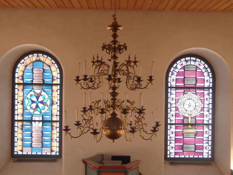 Der Kronleuchter in der Waldenserkirche