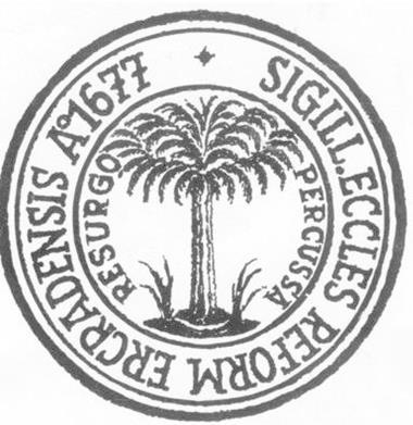 Siegel der reformierten Gemeinde Erkrath aus dem Jahr 1677