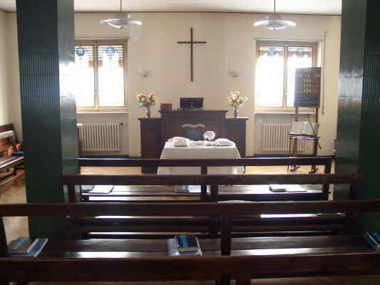 Kirchraum der Waldensergemeinde in Biella