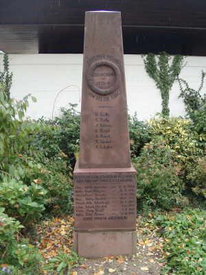 Gedenkstein für die Kriegsteilnehmer 1870/71