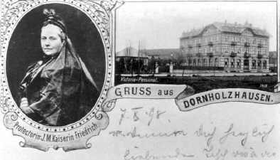 Postkarte mit Victoria-Pensionat